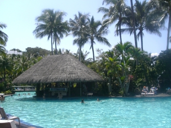 Swim up bar on Hamilton Island, Queensland, Australia