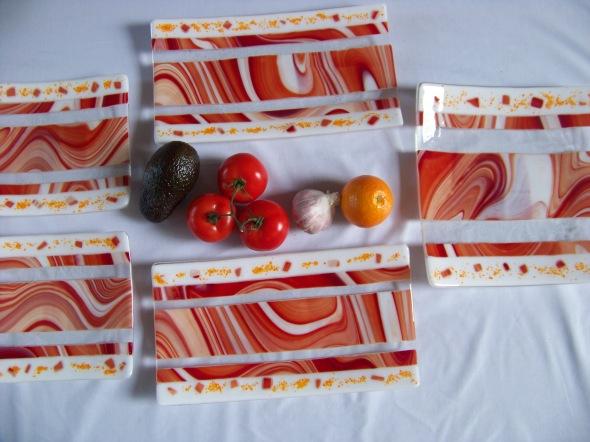 20x20cm, 30x30cm & 20x35cm Chocolate Orange by Jenie Yolland