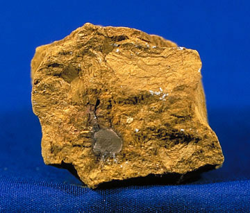 Limonite, a clay containing iron oxide, which gives the color to sienna pigment.