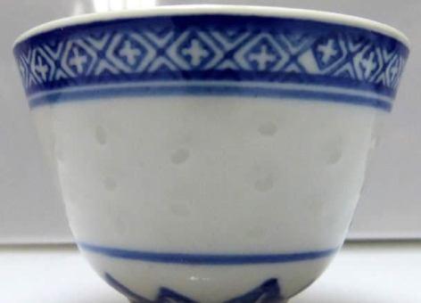 rice pattern tea cup