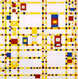 Broadway Boogie Woogie 1942-43 by Piet Mondrian