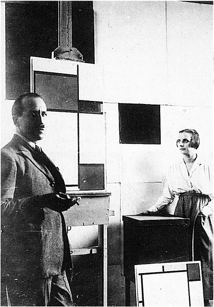 Piet 蒙德里安 and Petro van Doesburg