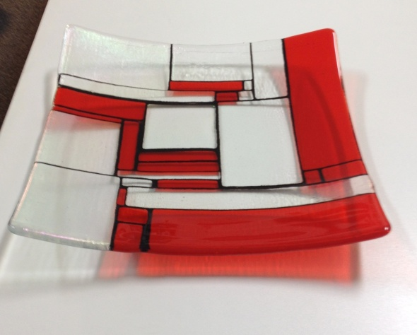 Mondrian in Scarlet by Jenie Yolland