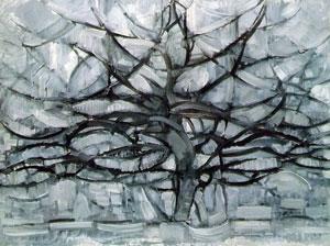 Mondrian gray trees (1912)
