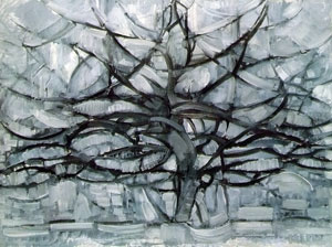 Mondrian gray trees (1912)
