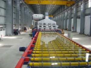 float glass manufacturing process also called The Pilkington Process