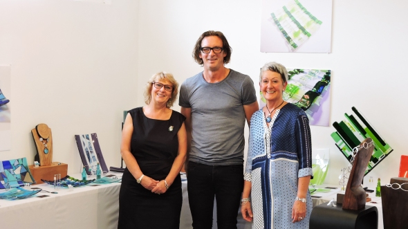 "Both artists very happy with the way things have worked out, with famous Melbourne artist Jeff Martin who manages Appleton Street Studios and who has ""created"" the new gallery space in double-quick time! Thanks, Jeff!"