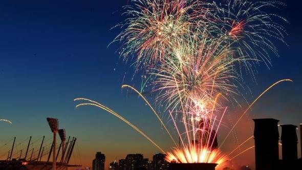 Melbourne NY Eve Fireworks image