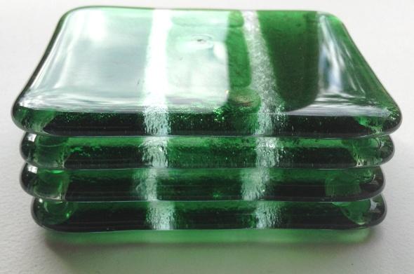 Sparkling Chlorophyll Coasters by Jenie Yolland